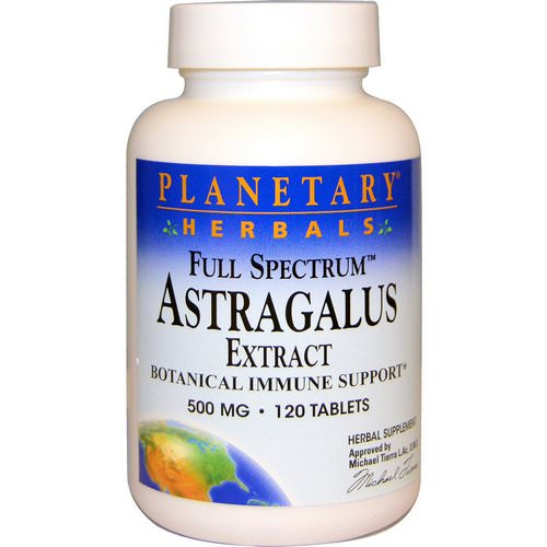 Planetary Herbals, Astragalus Extract, Full Spectrum, 500 mg, 120 Tablets فوائد