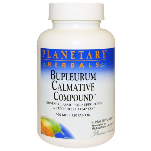 Planetary Herbals, Bupleurum Calmative Compound, 550 mg, 120 Tablets فوائد