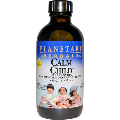 Planetary Herbals, Calm Child, Herbal Syrup, 4 fl oz (118.28 mL) فوائد