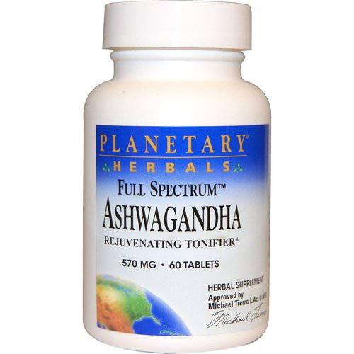 Planetary Herbals, Full Spectrum, Ashwagandha, 570 mg, 60 Tablets فوائد