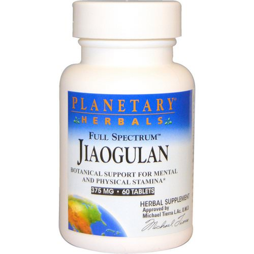 Planetary Herbals, Full Spectrum Jiaogulan, 375 mg, 60 Tablets فوائد