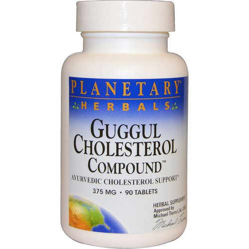 Planetary Herbals, Guggul Cholesterol Compound, 375 mg, 90 Tablets فوائد