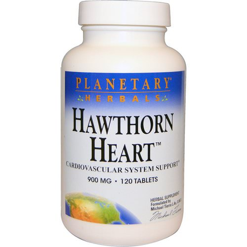 Planetary Herbals, Hawthorn Heart, 900 mg, 120 Tablets فوائد