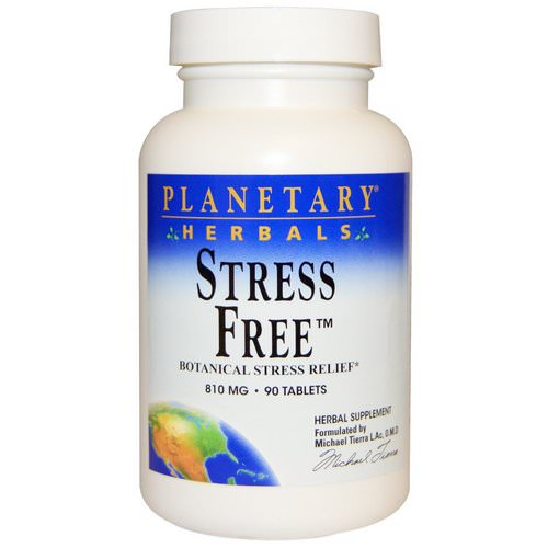 Planetary Herbals, Stress Free, Botanical Stress Relief, 810 mg, 90 Tablets فوائد