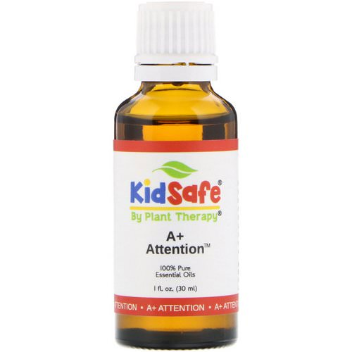 Plant Therapy, KidSafe, 100% Pure Essential Oil, A+ Attention, 1 fl oz (30 ml) فوائد