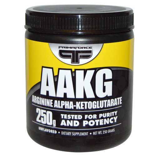 Primaforce, AAKG, Arginine Alpha-Ketoglutarate, Unflavored, 250 g فوائد