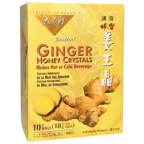 Prince of Peace, Instant Ginger Honey Crystals, 10 Bags, (18 g) Each فوائد