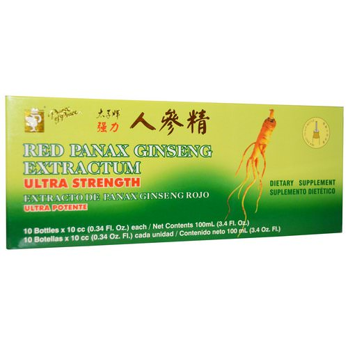 Prince of Peace, Red Panax Ginseng Extractum, Ultra Strength, 10 Bottles, 0.34 fl oz (10 cc) Each فوائد
