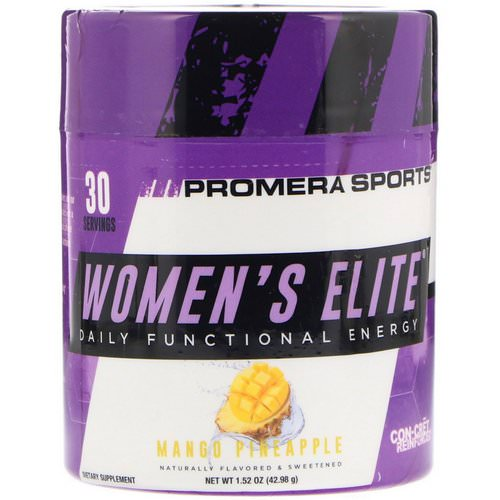 Promera Sports, Women's Elite, Daily Functional Energy, Mango Pineapple, 1.52 oz (42.98 g) فوائد