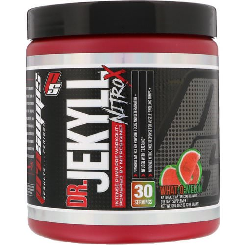 ProSupps, Dr. Jekyll, Nitro X, Intense Pump Pre Workout, What-O-Melon, 10.2 oz (288 g) فوائد