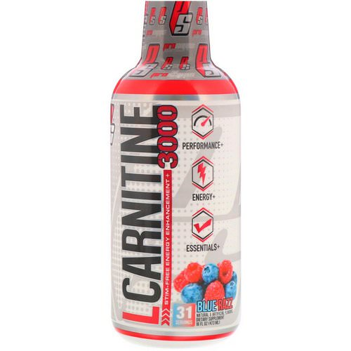 ProSupps, L-Carnitine 3000, Blue Razz, 16 fl oz (473 ml) فوائد