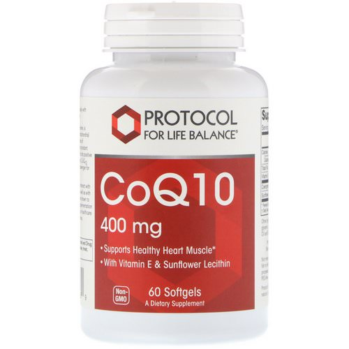 Protocol for Life Balance, CoQ10, 400 mg, 60 Softgels فوائد