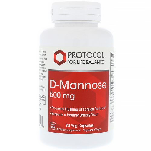 Protocol for Life Balance, D-Mannose, 500 mg, 90 Veg Capsules فوائد