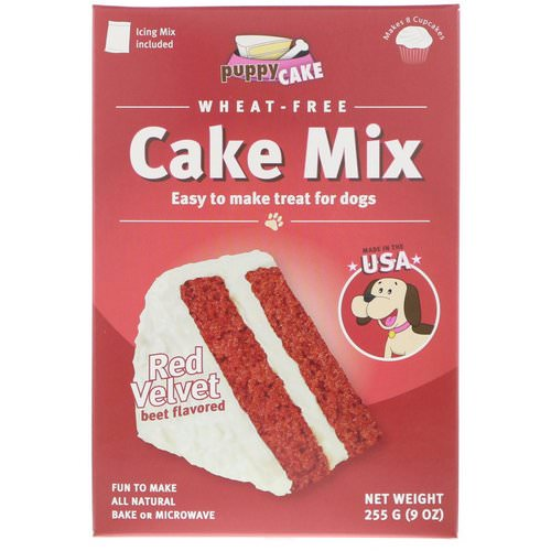 Puppy Cake, Wheat-Free Cake Mix, For Dogs, Red Velvet, Beet Flavored, 9 oz (255 g) فوائد