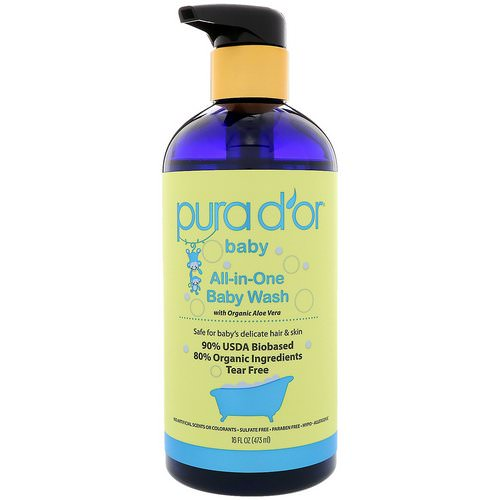Pura D'or, All-in-One Baby Wash, 16 fl oz (473 ml) فوائد