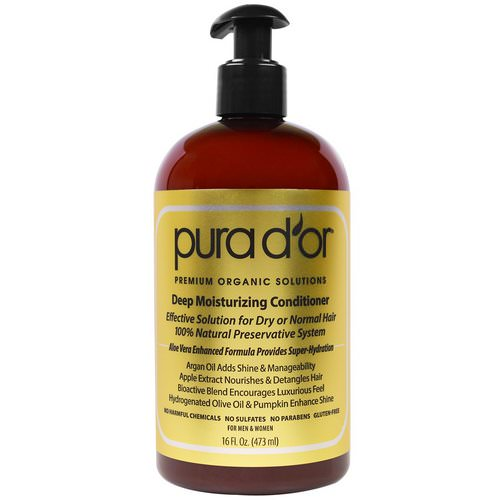 Pura D'or, Deep Moisturizing Conditioner, 16 fl oz (473 ml) فوائد