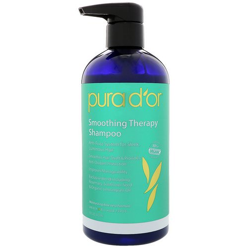 Pura D'or, Smoothing Therapy Shampoo, 16 fl oz (473 ml) فوائد