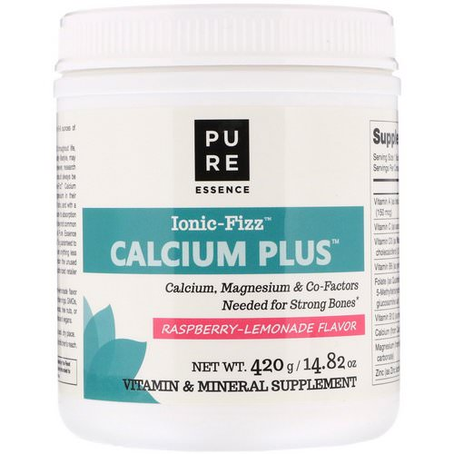Pure Essence, Ionic-Fizz Calcium Plus, Raspberry Lemonade, 14.82 oz (420 g) فوائد