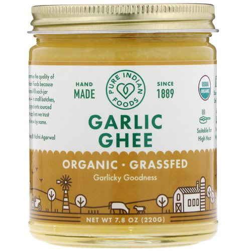 Pure Indian Foods, Organic Garlic Ghee, 7.8 oz (220 g) فوائد