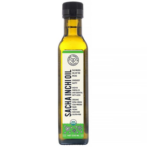 Pure Indian Foods, Organic Cold Pressed Extra-Virgin Sacha Inchi Oil, 250 ml فوائد