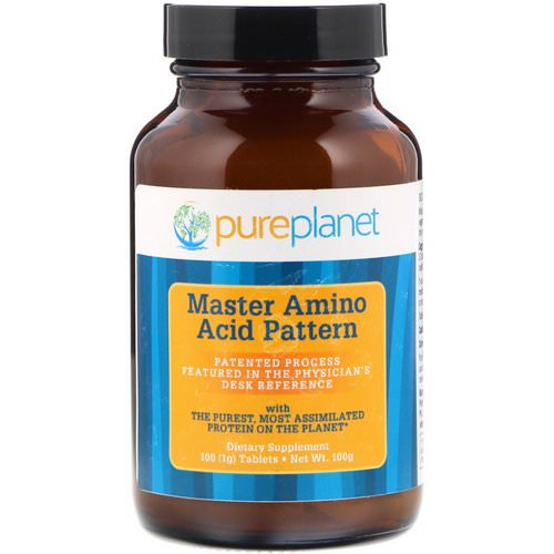 Pure Planet, Master Amino Acid Pattern, 1000 mg, 100 Tablets فوائد