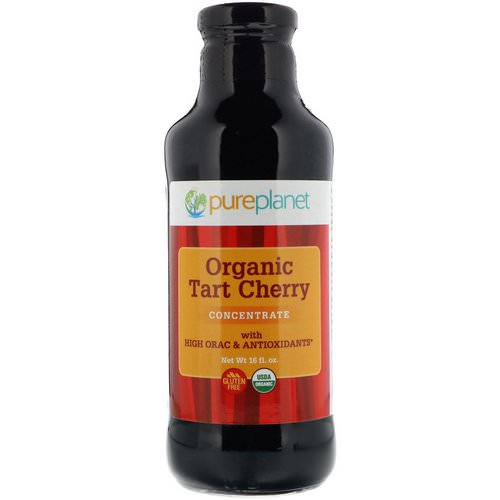 Pure Planet, Organic Tart Cherry, Concentrate, 16 fl oz فوائد