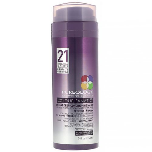 Pureology, Colour Fanatic Instant Deep Conditioning Mask, 5 fl oz (150 ml) فوائد