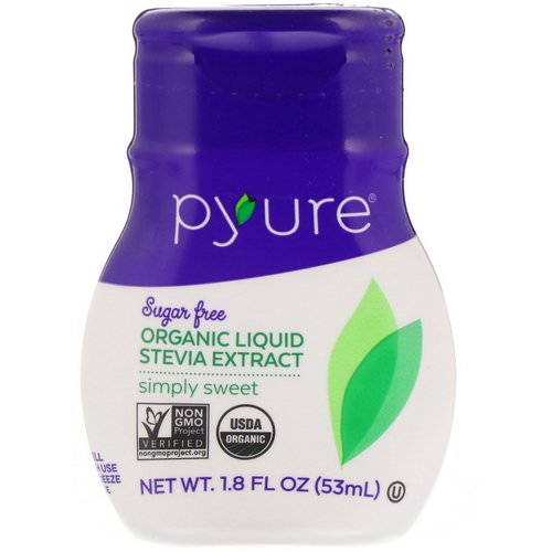 Pyure, Organic Liquid Stevia Extract, Simply Sweet, 1.8 fl oz (53 ml) فوائد