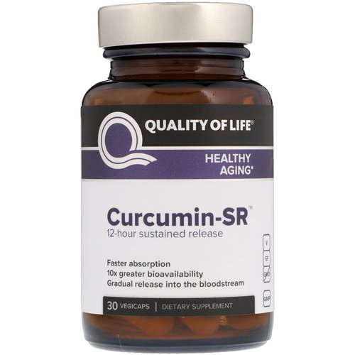Quality of Life Labs, Curcumin-SR, 30 Vegicaps فوائد