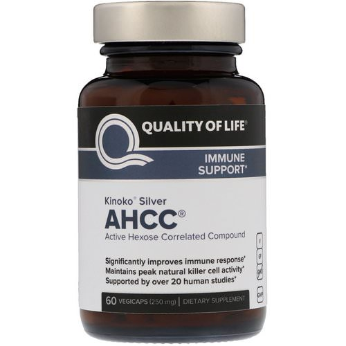 Quality of Life Labs, Kinoko Silver AHCC, 250 mg, 60 Vegicaps فوائد