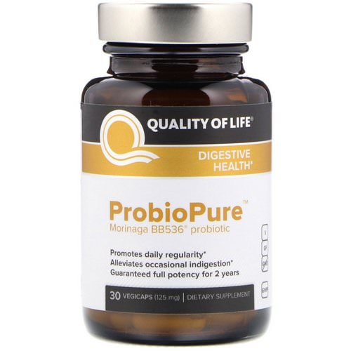 Quality of Life Labs, ProbioPure, 30 Veggie Caps فوائد