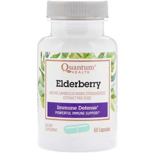 Quantum Health, Elderberry Immune Defense, 60 Capsules فوائد