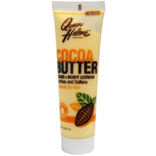 Queen Helene, Hand + Body Lotion, Cocoa Butter, 2 oz (57 g) فوائد