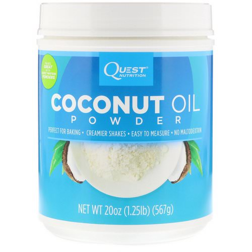 Quest Nutrition, Coconut Oil Powder, 1.25 lbs (567 g) فوائد
