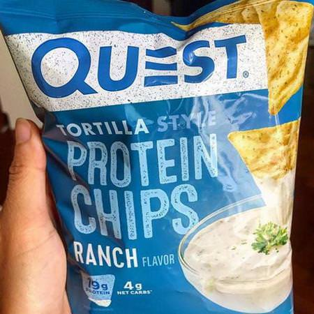 Quest Nutrition, Tortilla Style Protein Chips, Ranch, 8 Bags, 1.1 oz (32 g ) Each
