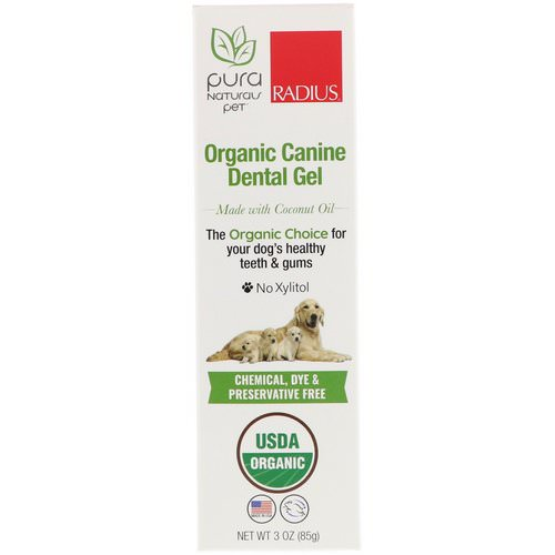 RADIUS, Organic Canine Dental Gel, 3 oz (85 g) فوائد