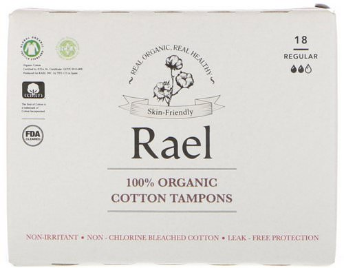 Rael, 100% Organic Cotton Tampons, Regular, 18 Tampons فوائد