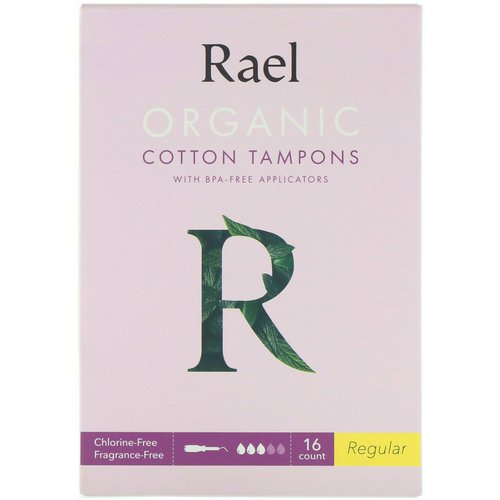 Rael, Organic Cotton Tampons With BPA-Free Applicators, Regular, 16 Count فوائد