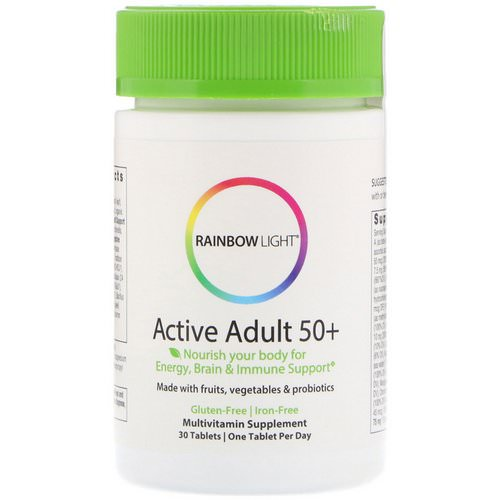 Rainbow Light, Active Adult 50+, 30 Tablets فوائد
