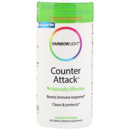 Rainbow Light, Counter Attack, Immune Support, 90 Tablets فوائد