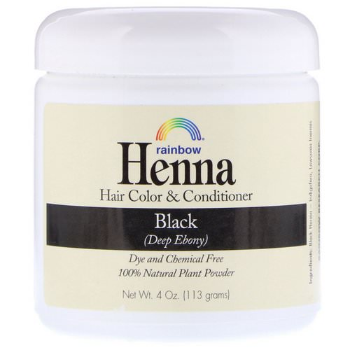 Rainbow Research, Henna, Hair Color & Conditioner, Black, 4 oz (113 g) فوائد