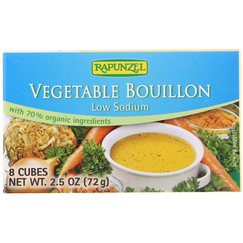 Rapunzel, Vegetable Bouillon, Low Sodium, 8 Cubes 2.5 oz (72 g) فوائد