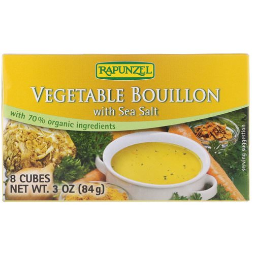 Rapunzel, Vegetable Bouillon with Sea Salt, 8 Cubes, 3 oz (84 g) فوائد