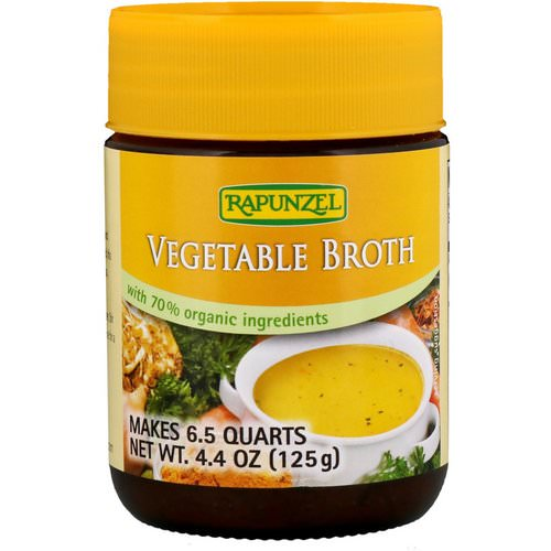 Rapunzel, Vegetable Broth, 4.4 oz (125 g) فوائد