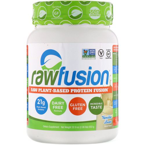 RawFusion, Raw Plant-Based Protein Fusion, Vanilla Bean, 2.06 lbs (933 g) فوائد