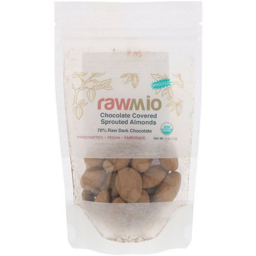 Rawmio, Chocolate Covered Sprouted Almonds, 2 oz (57 g) فوائد