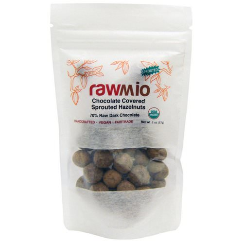 Rawmio, Chocolate Covered Sprouted Hazelnuts, 2 oz (57 g) فوائد