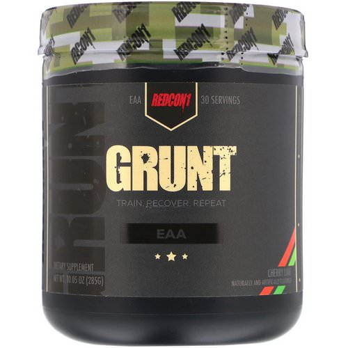 Redcon1, Grunt, EAA, Cherry Lime, 10.05 oz (285 g) فوائد