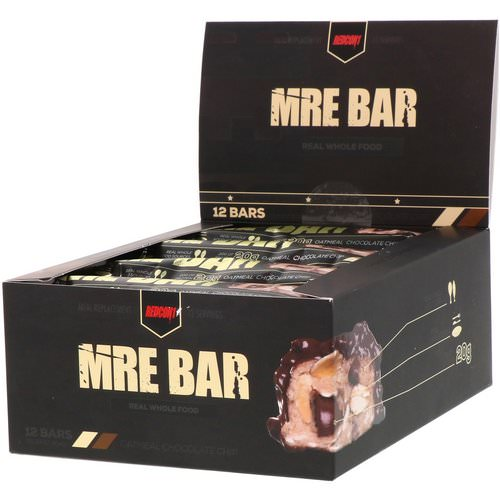 Redcon1, MRE Bar, Oatmeal Chocolate Chip, 12 Bars, 2.36 oz (67 g) Each فوائد
