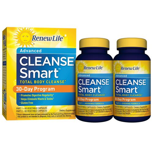Renew Life, Advanced Cleanse Smart, 2 Bottles, 60 Vegetable Capsules Each فوائد